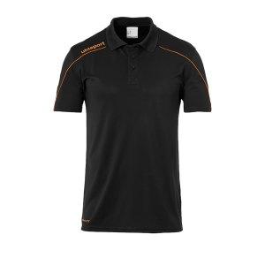 uhlsport-stream-22-poloshirt-schwarz-orange-f22-fussball-teamsport-textil-poloshirts-1002204.png