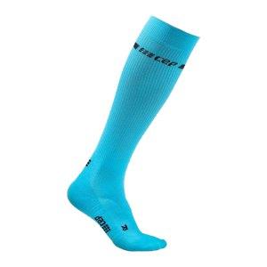 cep-neon-socken-running-damen-blau-wp20g-laufbekleidung_front.png