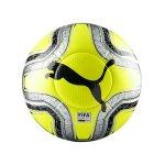 PUMA FINAL 1 Statement Spielball Weiss Gelb F01