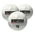 Derbystar 3xSpielball Brillant APS Weiss