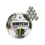 Derbystar Buli Bril TT HS Trainingsball 10x Gr.4 Weiss F19