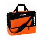 Erima Tasche mit Bodenfach Club 5 Orange Gr. M