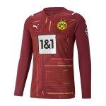PUMA BVB Dortmund Torwarttrikot 2021/2022 Lila Schwarz F51
