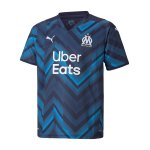 PUMA Olympique Marseille Trikot Away Kids 2021/2022 Blau F02