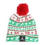 Jordan Cuffed Pom Beanie Kids Rot FR78