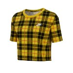 Nike Cropped Tee Futura Plaid T-Shirt Damen F657