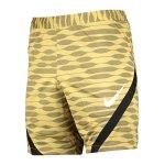 Nike Strike 21 Knit Short Gold Schwarz F700