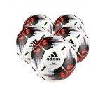 adidas Team Spielball Weiss Schwarz Rot