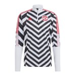 adidas Manchester United AOP Trainingstop Weiss