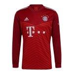 adidas FC Bayern München langarm Trikot Home 2021/2022 Rot