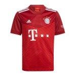 adidas FC Bayern München Trikot Home 2021/2022 Kids Rot