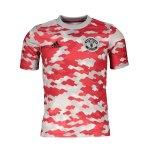 adidas Manchester United Prematch Shirt 2021/2022 Kids Rot