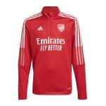 adidas FC Arsenal London HalfZip Sweatshirt Kids Rot