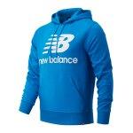 New Balance Essentials Stacked Logo Hoody Grau FAG