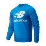 New Balance Essentials Logo Sweatshirt Blau FECL