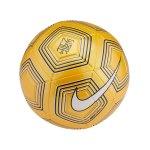 Nike Neymar Strike Trainingsball Gelb Weiss F728