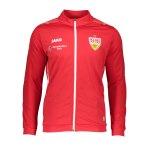 JAKO VfB Stuttgart Challenge Polyesterjacke Rot Weiss F102